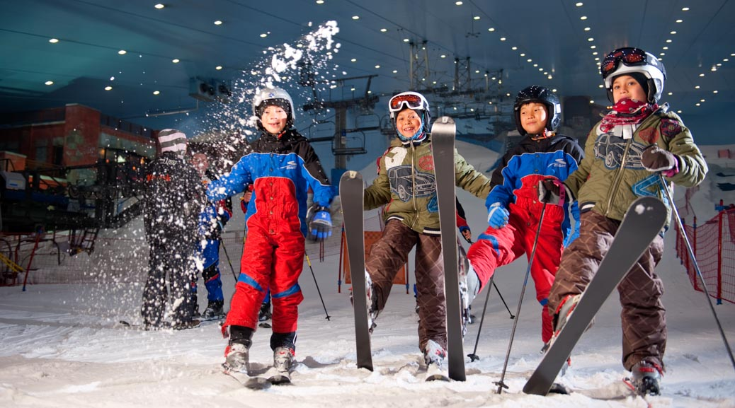 Skiing at the Mall of the Emirates