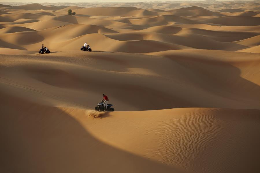 Quad biking in the Desert
