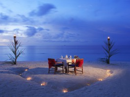 Romantic candlelit dinner for two on the beach at Centara Grand Island Resort & Spa