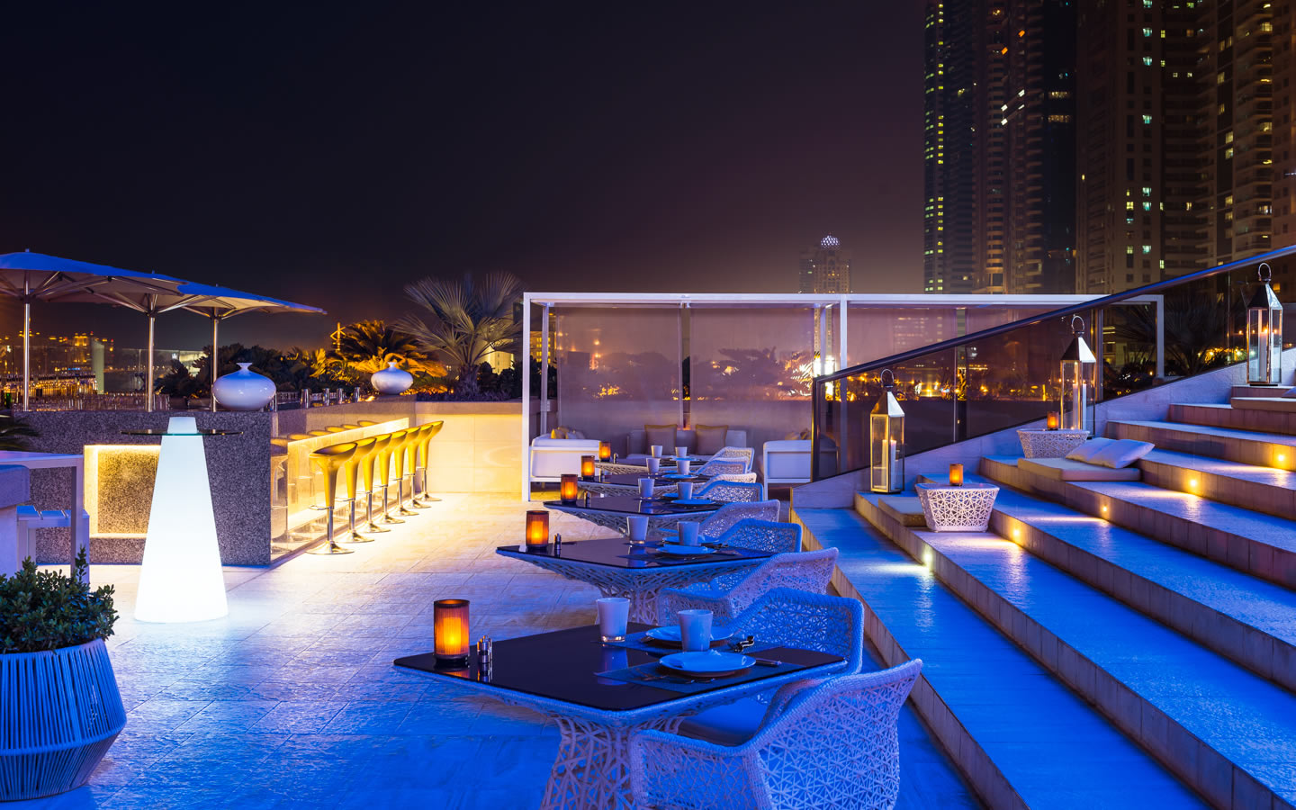 15 Best outdoor terraces in Dubai - Siddhara Lounge, Grosvenor House