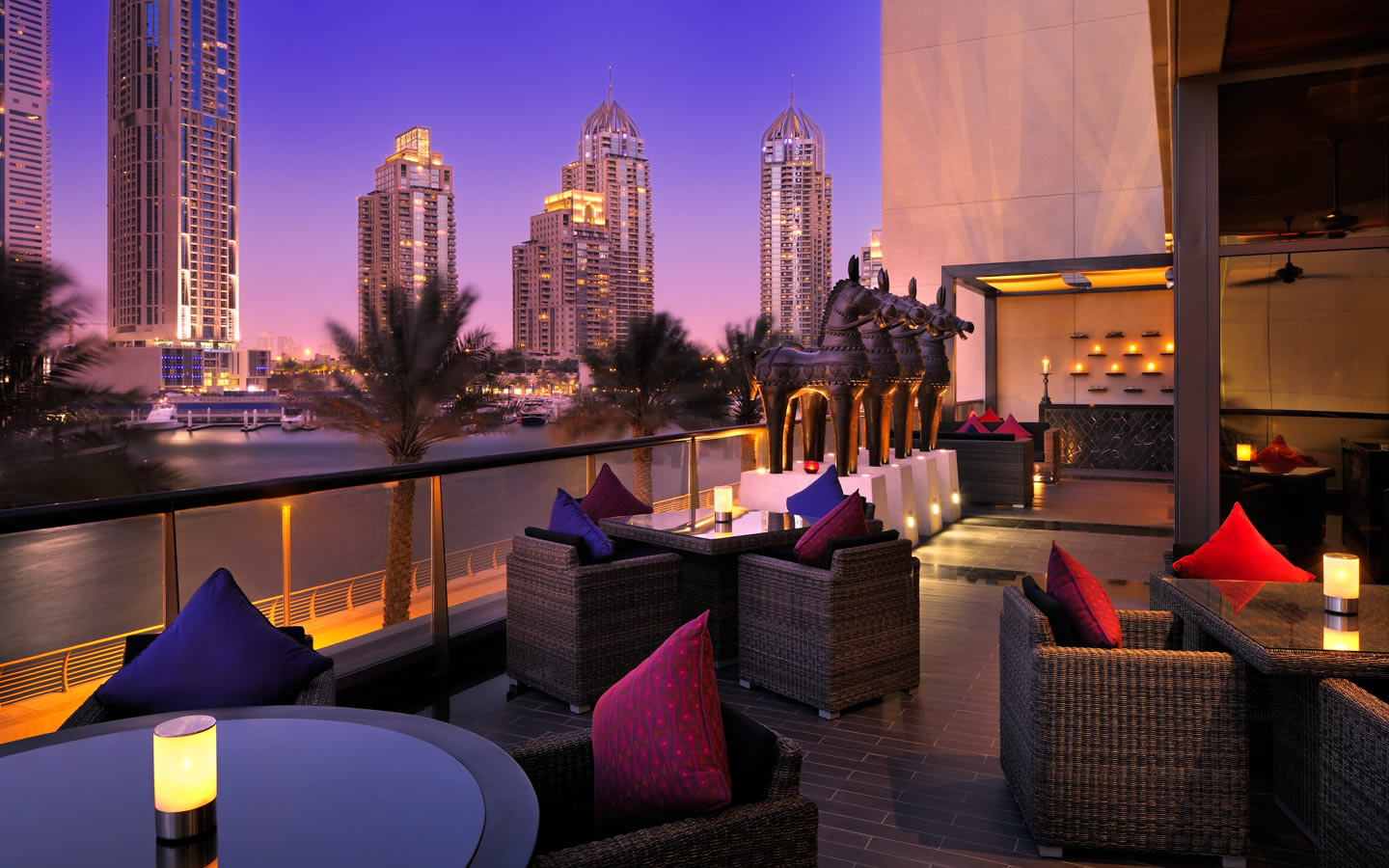 15 Best Outdoor Terraces in Dubai - Indigo by Vineet, Grosvenor House