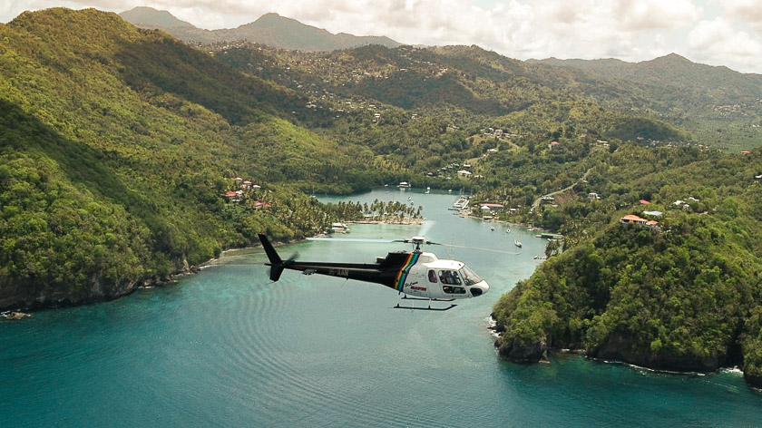 Helicopter Transfer - Things to do in St Lucia