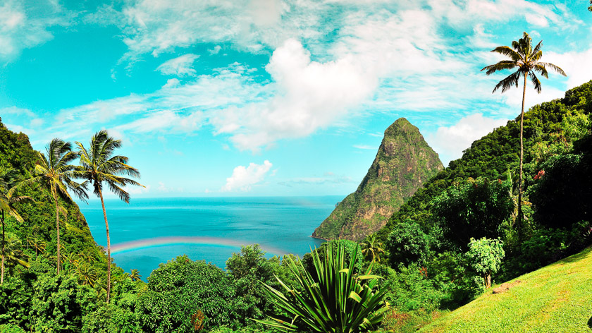 St Lucia Pitons